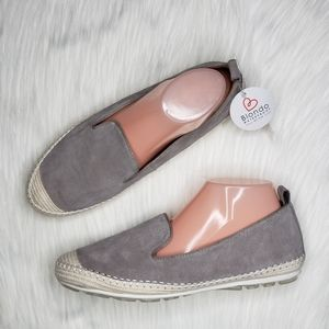 Blondo Bella Waterproof Suede Espadrille Flat Gray